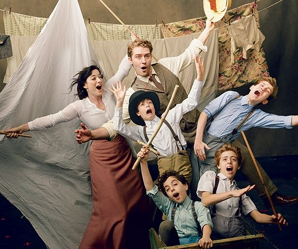 See Matthew Morrison, Laura Michelle Kelly and the FINDING NEVERLAND kids take flight!