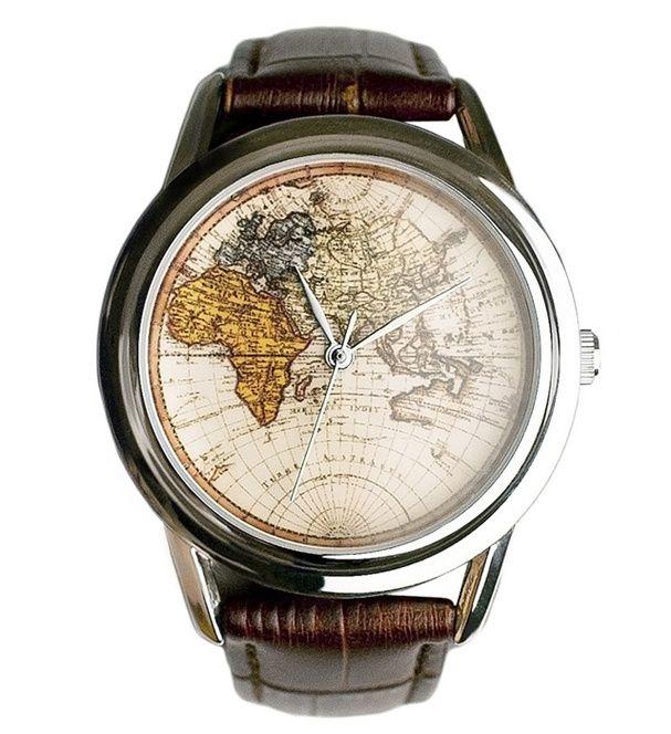 50 cadeaux de noël pour homme, montre-globe-trotteur