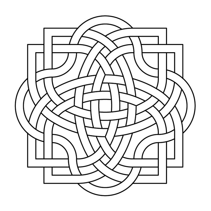 Celtic knot-work quadra by Peter Mulkers
