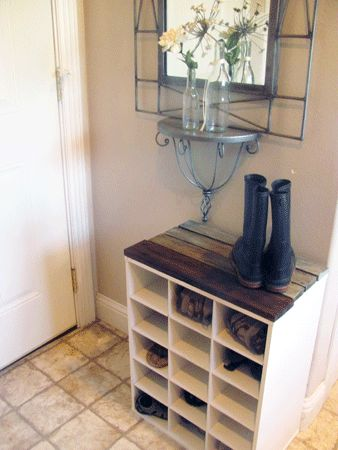 Shabby Shoe Cubby « The Crafty Classroom