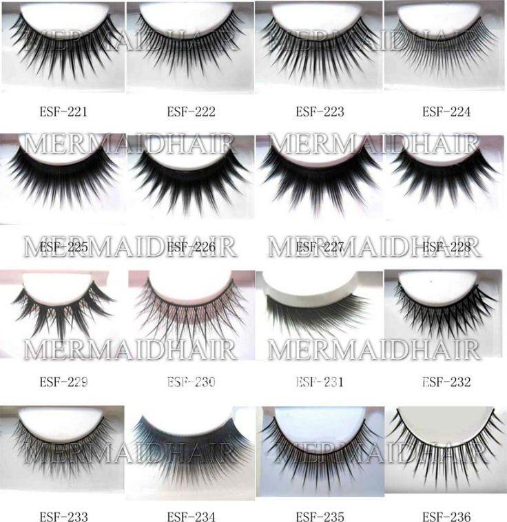 wholesale black natural  fake eyelash $0.15~$0.35