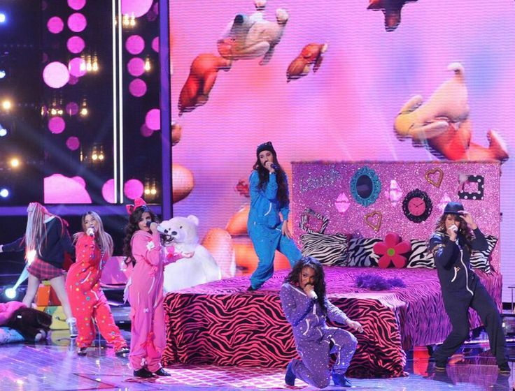 Fifth harmony performing on X factor