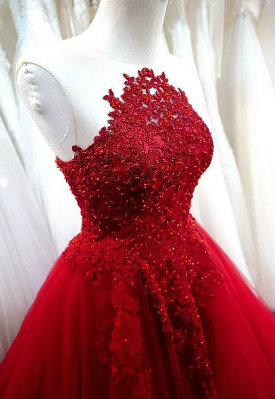 Charming Prom Dress,Sexy Prom Dress,Red A Line Prom