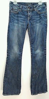 Silver Pioneer Western Glove Works distressed med denim boot cut jeans W28 L32