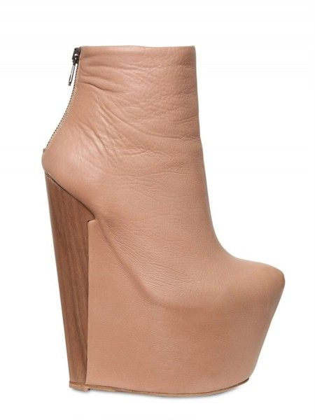 Ruthie Davis Calfskin Spalding Boot Wedges    HLY SHT