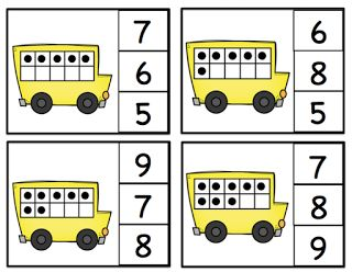 COUNTING DOTS - pincette. Preschool Printables.