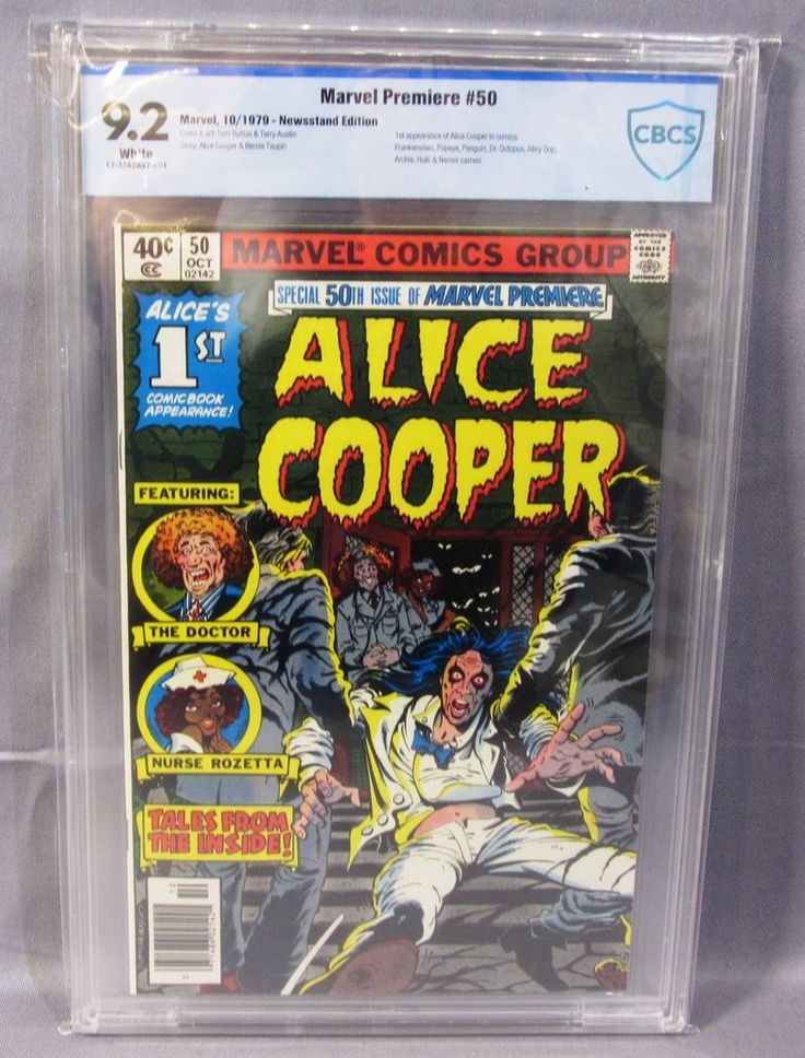 MARVEL PREMIERE #50 (Alice Cooper 1st appearance) White CBCS 9.2 NM- 1979 cgc | Collectibles, Comics, Bronze Age (1970-83) | eBay!