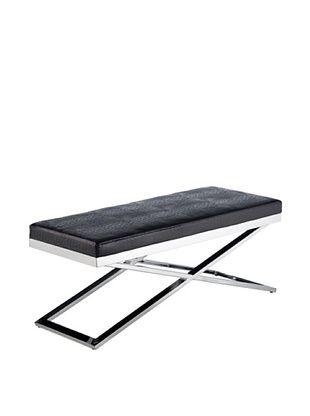 Sunpan Crawford X-Base Bench, Croco Black