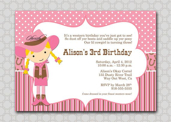 a6afdf2a6582fe403f509adccf6c902a cowgirl birthday invitations cowgirl birthday parties 50 best images about birthday on pinterest,Free Printable Cowgirl Birthday Invitations