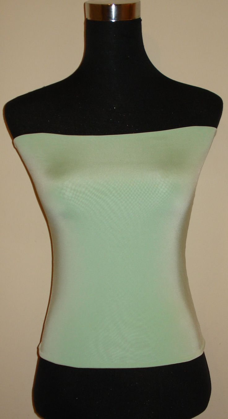 Mint bandeau top double layer crop vest boob tube Top s/m/l/xl/xxl by stitchawayrose on Etsy