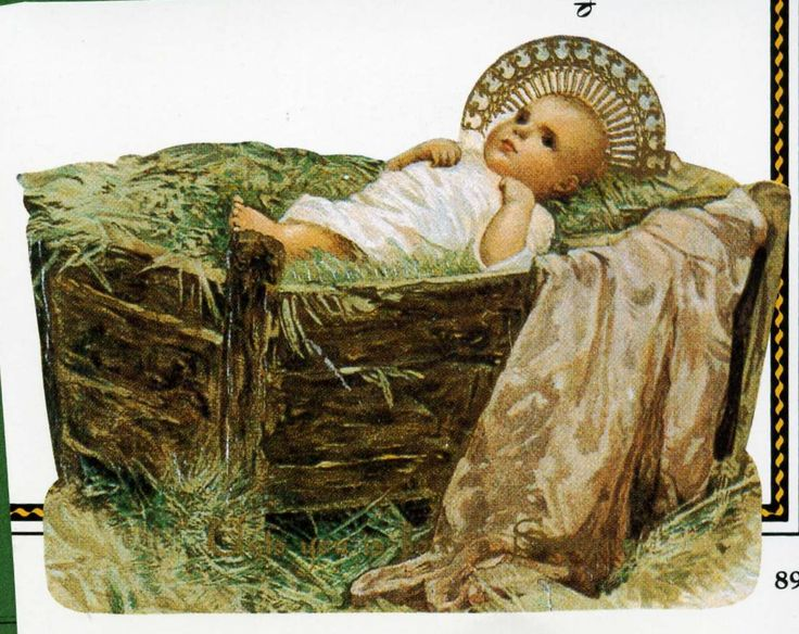 Jesus In Manger The NativityChristmas StockingsVintage