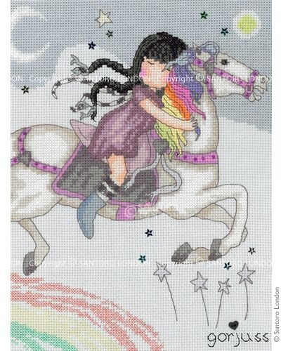 Gorjuss Counted Cross Stitch Kit - The Runaway