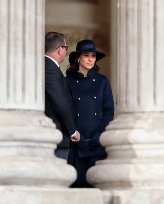 Catherine, Duchess of Cambridge attends the Grenfell Tower national memorial service at St Paul's Cathedral on December 14, 2017 in London, England. The multi-faith memorial service attended by The Prime Minister and members of The Royal Family marks the six month anniversary of the Grenfell Tower fire in which 71 people died.