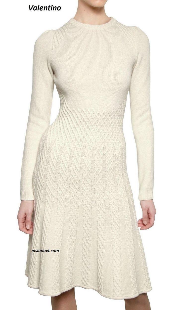 Вязаное платье спицами от Valentino - СХЕМЫ http://mslanavi.com/2017/02/vyazanoe-plate-spicami-ot-valentino/