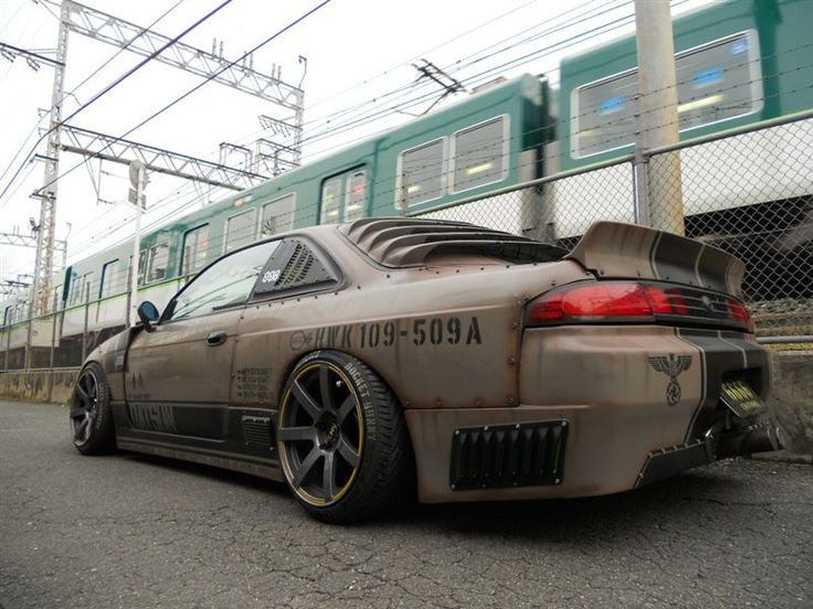 Lifestyle By Design. http://JaysonShawver.com Jet Fighter Paint Job On Nissan S14 Silvia 240sx