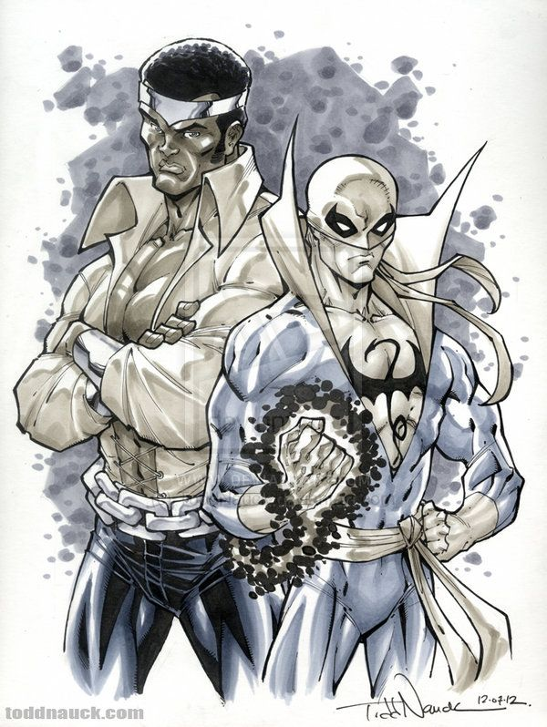 Powerman and Iron Fist by ToddNauck.deviantart.com on @deviantART
