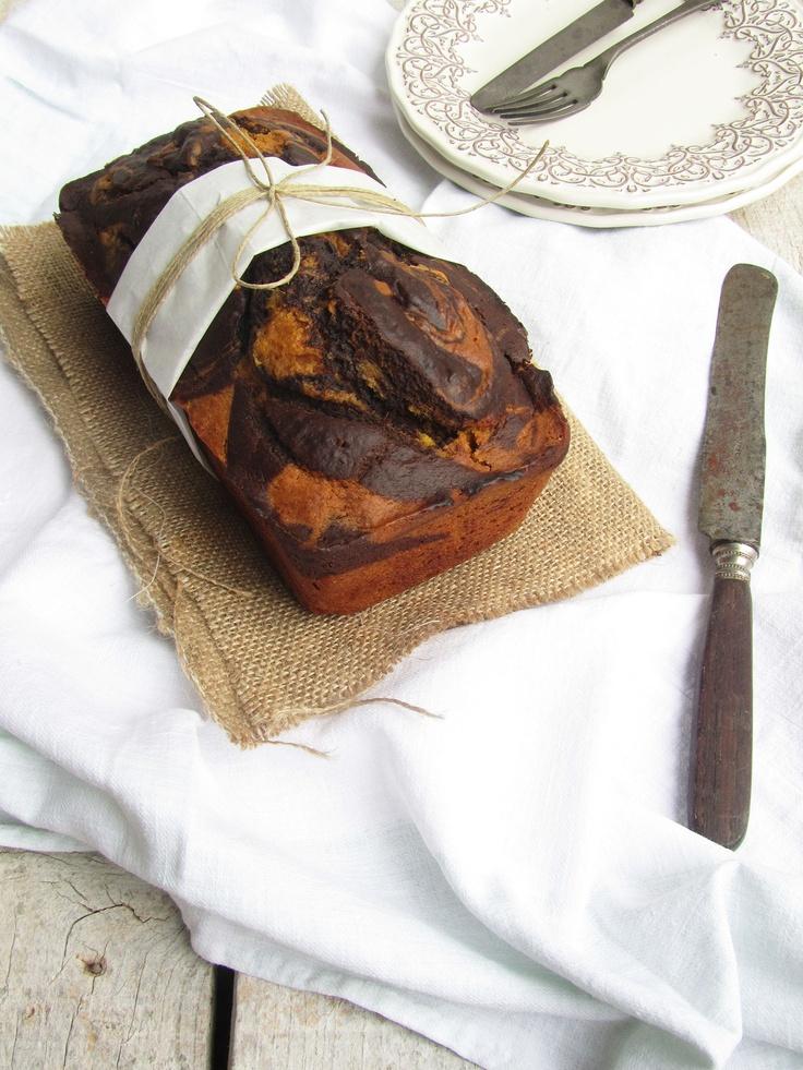 Butternut squash and chocolate swirl bread