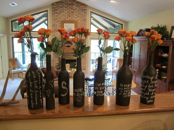 Ideas for wine and beer kitchen decor gave these to a for Beer bottle decoration ideas