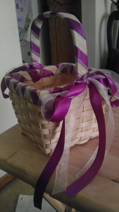 Cheap, simple DIY flower girl basket that I made
