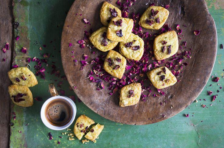 Pistachio-Rose Cookies