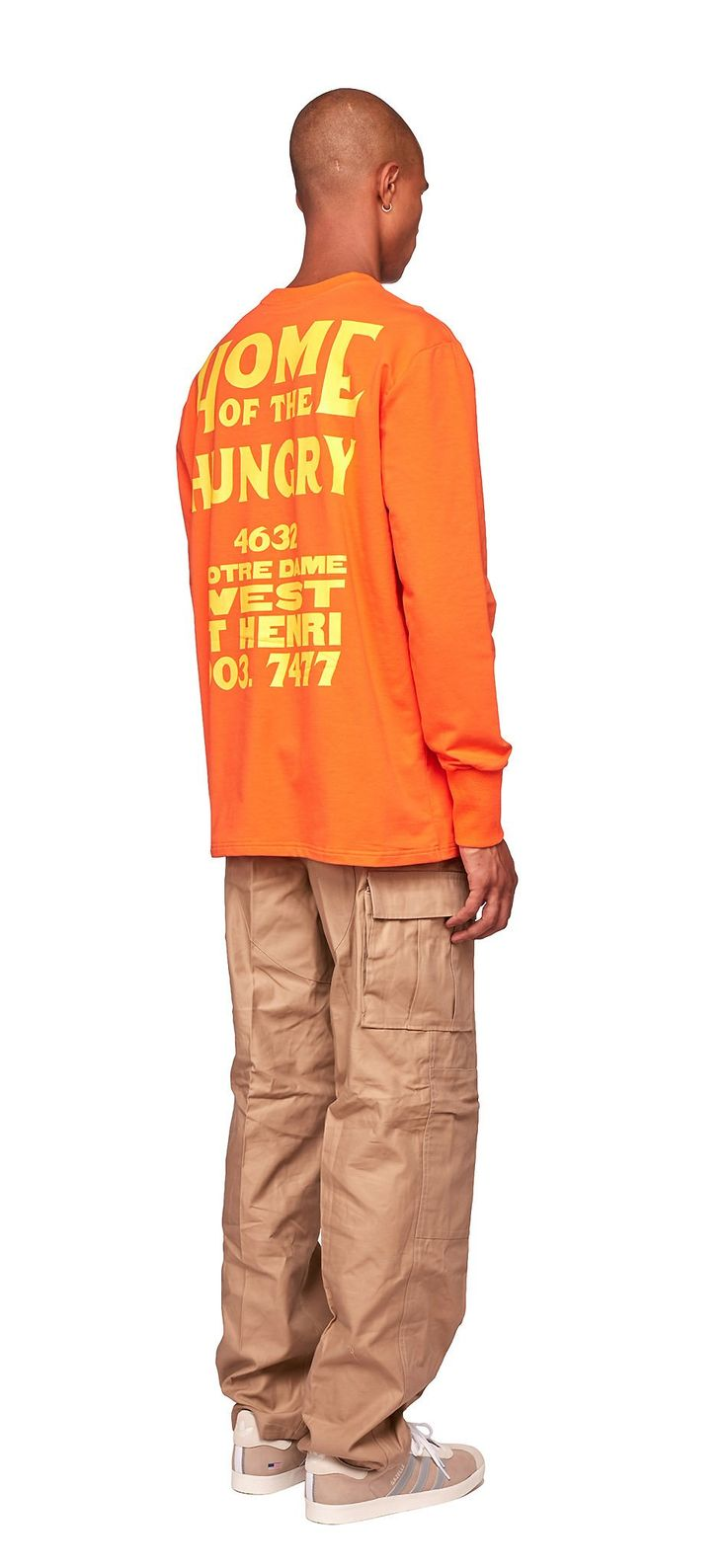 """Home Of The Hungry Long Sleeve (Orange) / This long sleeve shirt features """"Home of the Hungry"""" artwork printed in yellow on back. #fw17"""