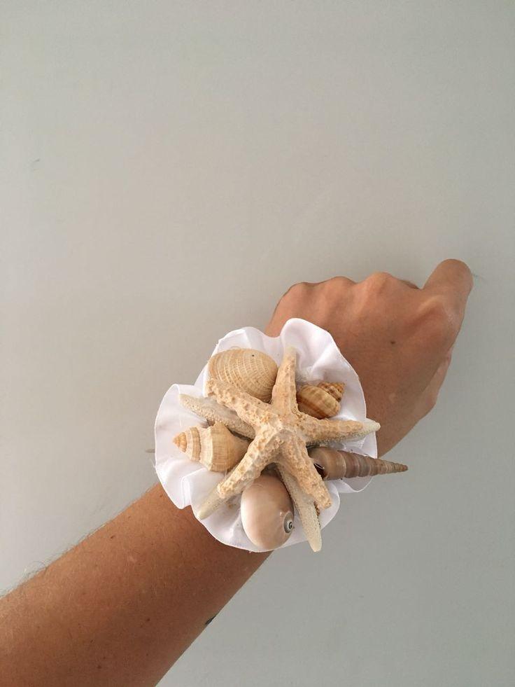 CBL155 wedding Riviera Maya star fish wrist corsage /
