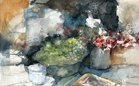 Kees Verwey /aquarel