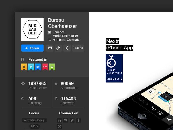 Behance Redesign concept - Creatives profile