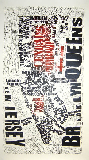 linocut map series, where in the world by Mark Webber, via Behance