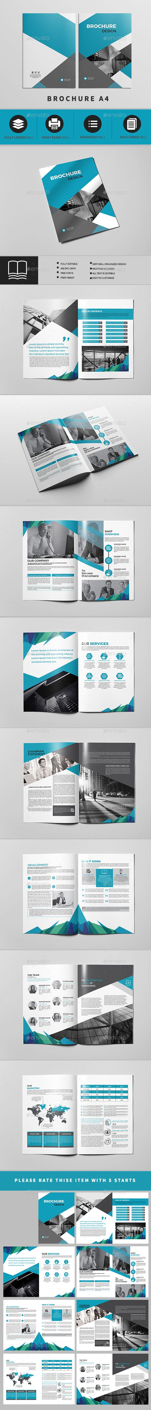 #Company Profile A4 16 Pages - #Brochures Print #Templates Download here: https://graphicriver.net/item/company-profile-a4-16-pages/19496146?ref=alena994