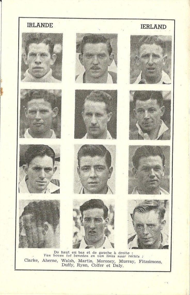 1950 Belgium v Ireland (Irish team photo's)