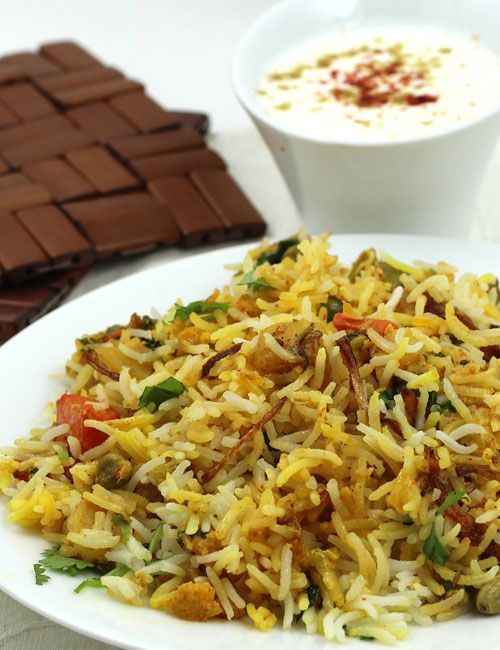 Vegetable Biryani - Hyderbadi style Vegetarian Dum Biryani - Perfect for Lunch or Dinner - Step by Step Photo Recipe