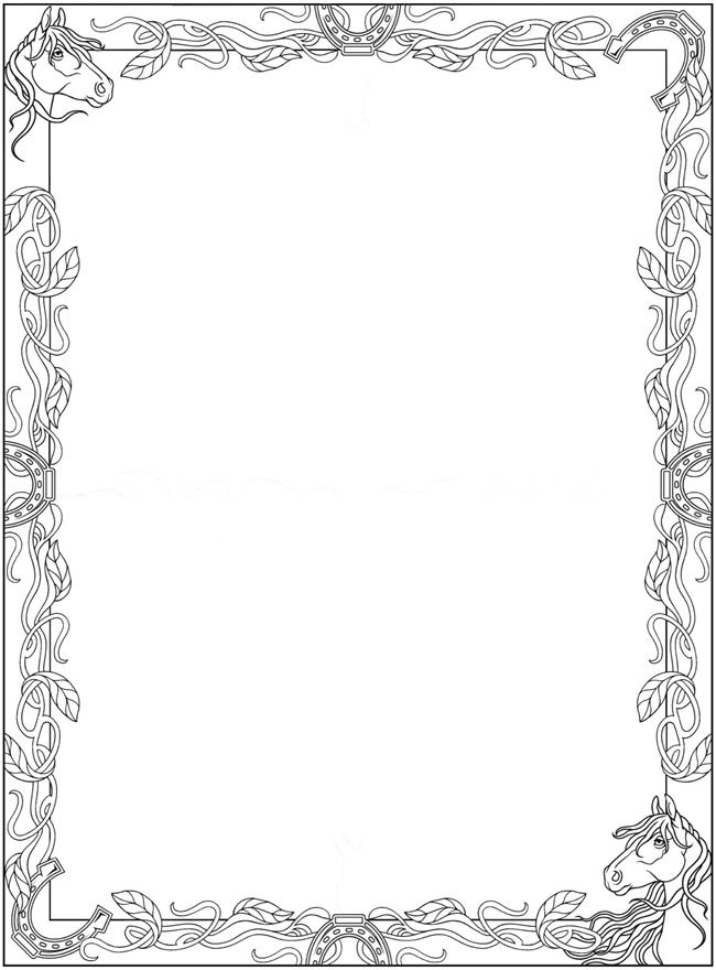Welcome To Dover Publications Creative Haven Horses Draw