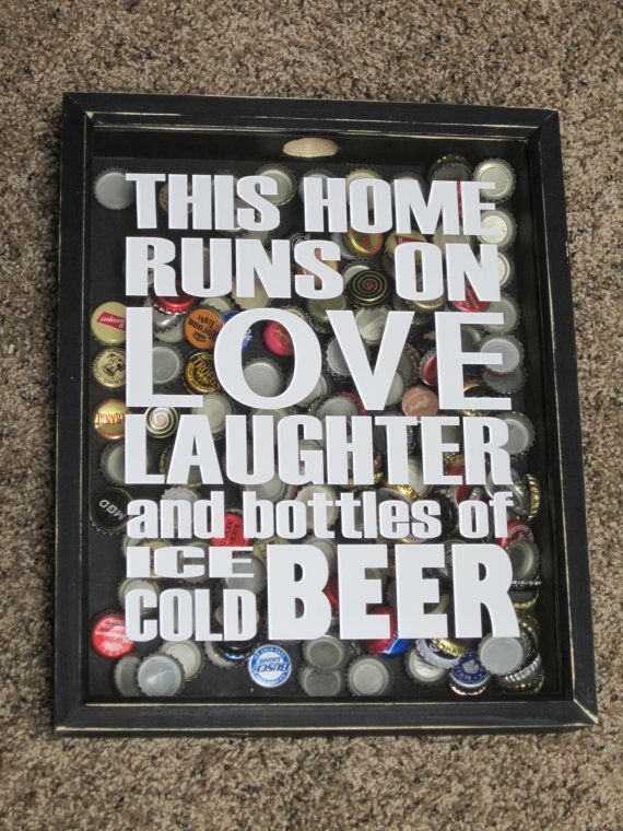 Beer Bottle Caps Collector Shadow Box Display by AllyBoosCreations