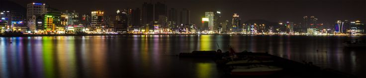 Gwangalli Beach Night Panorama - Asiatiq.com