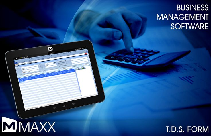 TDS is Tax Deducted at Source is a means of collecting income tax. It is money deducted from payment mades above certain limit... http://maxxerp.blogspot.in/2013/09/maxx-business-management-software-t.html