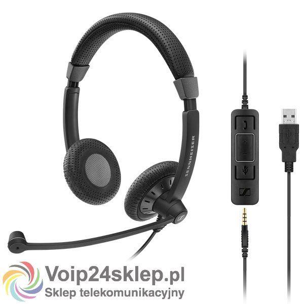 Słuchawki przewodowe Sennheiser SC 75 USB CTRL