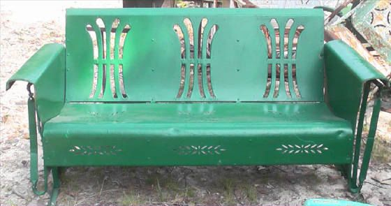 Metal Vintage Patio And Porch Glider Vintage Antique. $750.00, via Etsy.