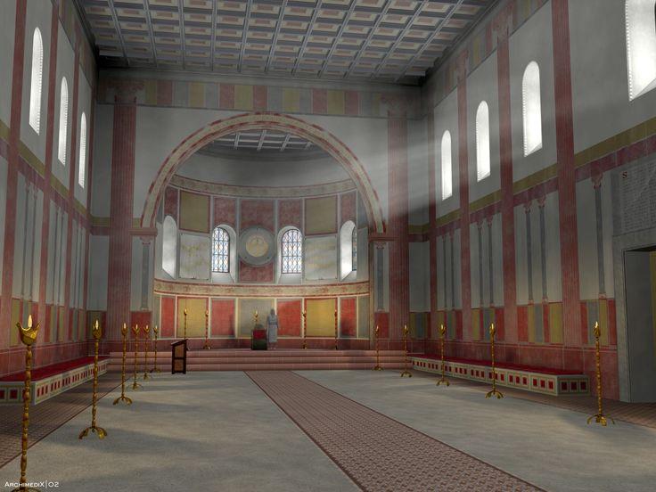 Digital reconstruction of Ingelheim Palace 800 AD.