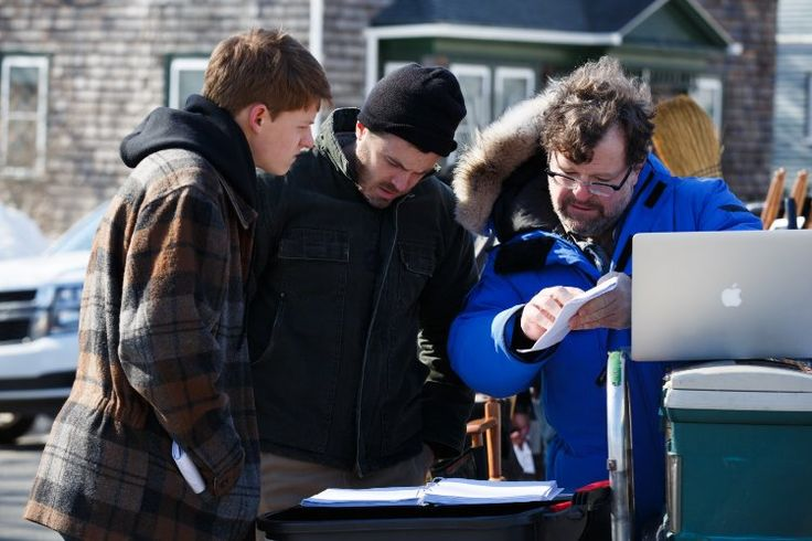Casey Affleck, Kenneth Lonergan, and Lucas Hedges in Manchester by the Sea (2016)