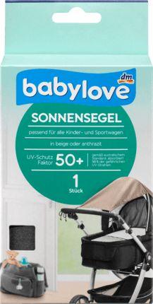 Das babylove Sonnensegel für Kinderwagen schützt Ihr Kind zuverlässig vor Sonnenlicht und schädlicher UV-Strahlung. Es bietet einen hohen UV-Schutz 50+...