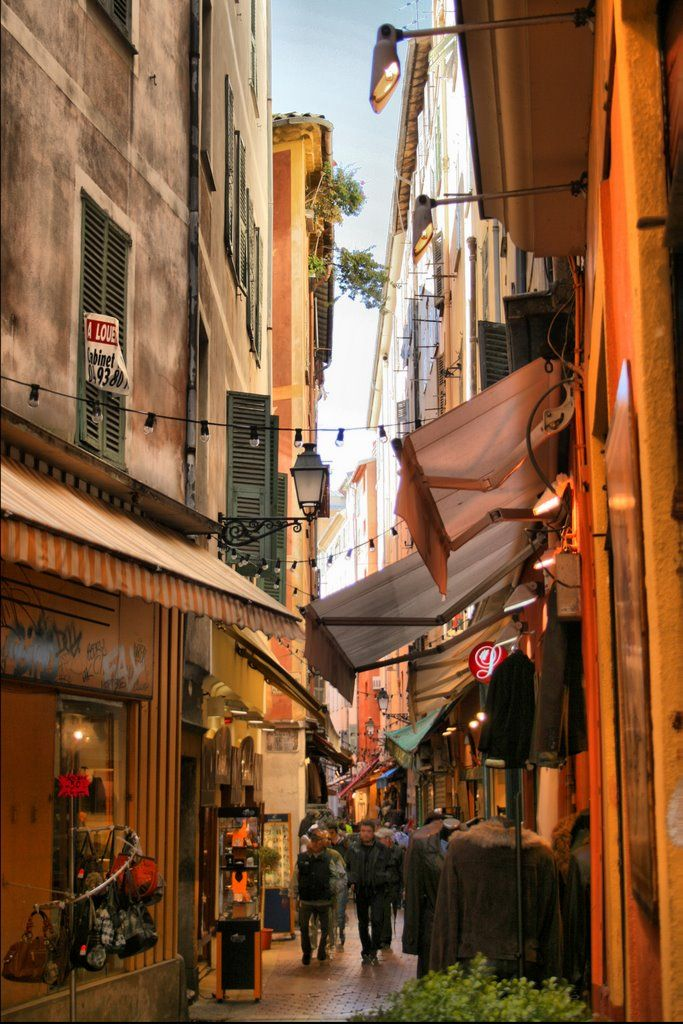 Side streets in Nice Old Town