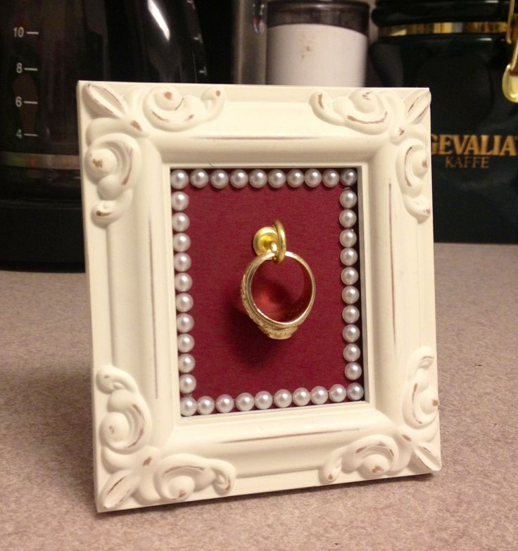 DIY Aggie ring holder. It's a simple and safe place to put your ring while cooking or washing dishes.