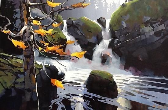 Klemtu Falls by Michael O'Toole Acrylic
