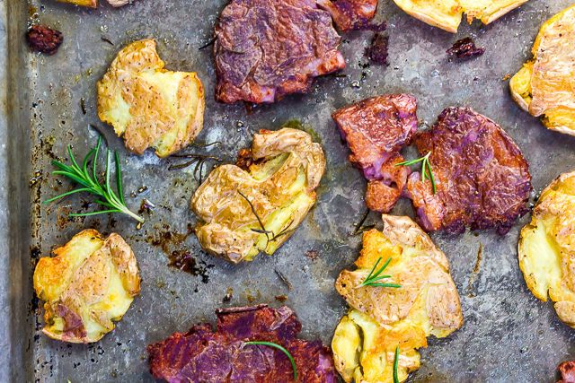 Flat-Roasted Potatoes with Rosemary and Black Pepper