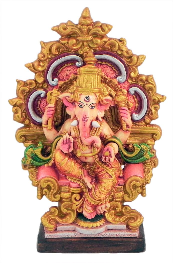 Ganesha+on+Throne+(Terracotta)
