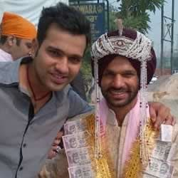 Cricketer Rohit Sharma was part of Shikhar Dhawan's Wedding Procession (Baraat).