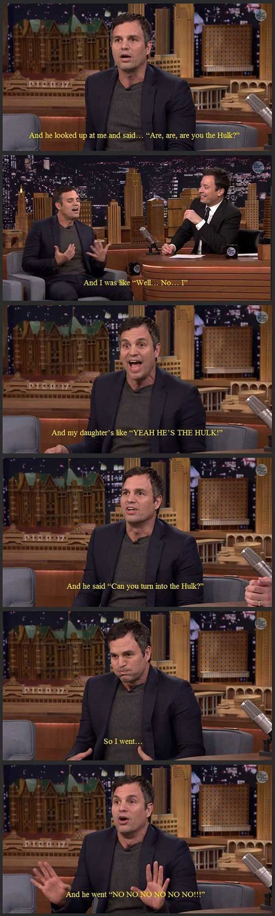 Mark Ruffalo About Taking His Daughter To Preschool