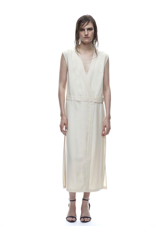 THIRD FORM SPRING 15 | ROBE WRAP DRESS   #thirdform #fashion #streetstyle #style #minimalism #trend #model #blackandwhite