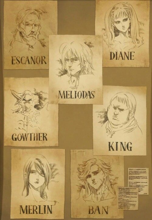 Cartazes de procurados - Os Sete Pecados Capitais
